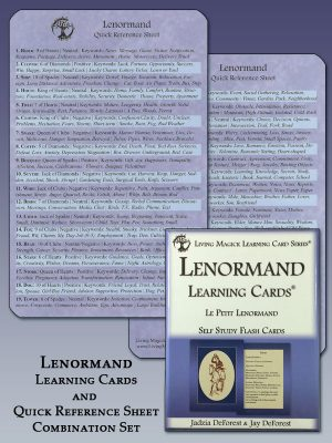 Lenormand Learning Cards and Reference Sheet