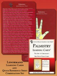 Palmistry Learning Cards and Reference Sheet