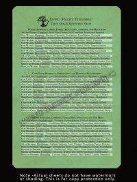 Tarot Quick Reference Sheet