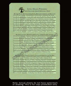 Tarot Reversal Reference Sheet