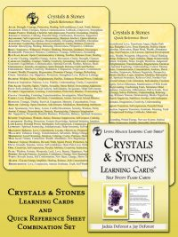 Crystals and stones learning cards and reference sheet
