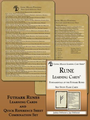 Futhark Rune Learning Cards and Reference Sheet