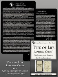 Kabbalah Tree of Life Learning Cards and Reference Sheet