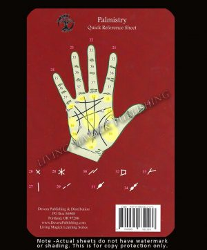 Palmistry reference sheet