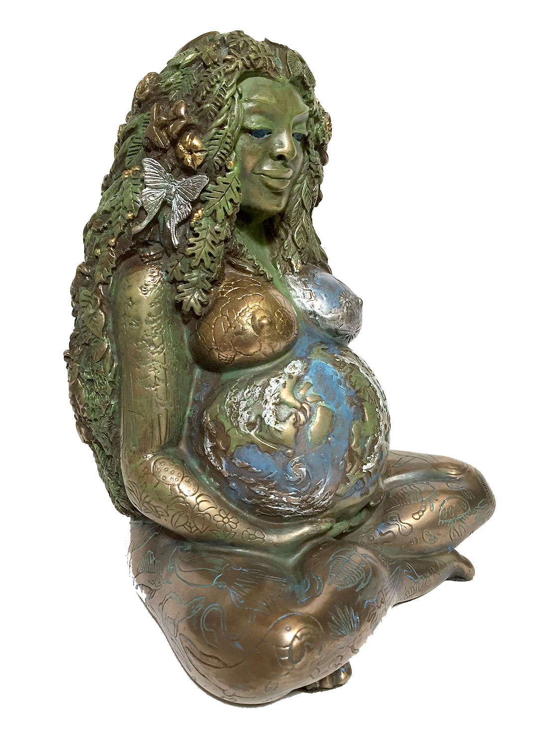 Mother Earth ~ Gaia ~ Special Edition Hand Tinted Bronze